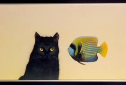 Michael Krasnow, Cat and Fish, 1987